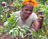 Hadija Kibwana and her farmer group were trained in organic farming methods supported by Sustainable Agriculture Tanzania (SAT)